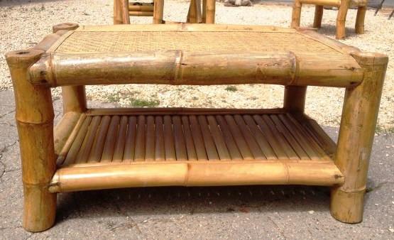 table en bambous