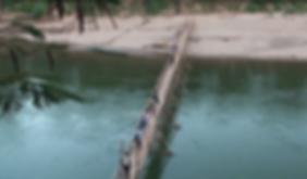 bamboo bridge luang prabang - voyages thailande circuit