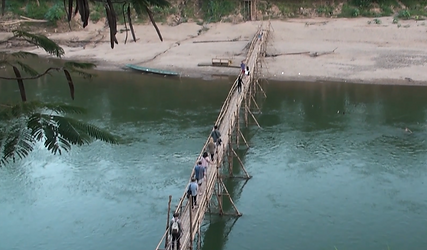 bamboo bridge luang prabang - guide touristique thailande