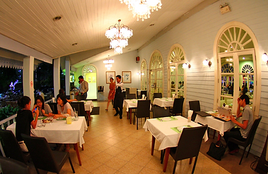 restaurant secret garden bangkok - blog voyage thailande
