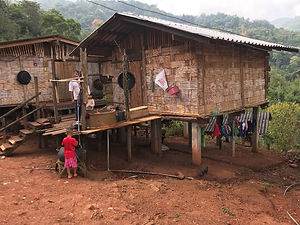 maison tribu mu seu - voyages thailande circuit