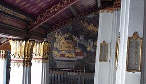 fresque intérieur grand palais bangkok - thailande vacance