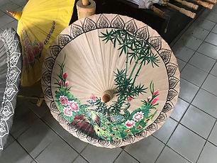 village des ombrelles bo sang - thailande vacance