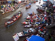 marché flottant thailande - thailande actualite