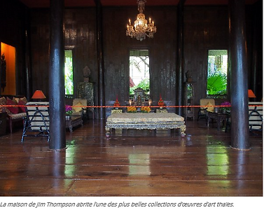 interieur maison de jim thompson - guide touristique thailande