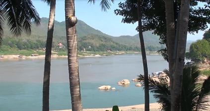 bord du mekong luang prabang - thailande vacance