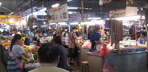 marché village près de nong khai - thailande vacance