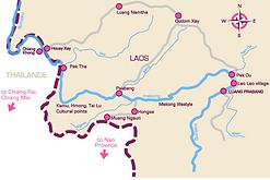 carte laos - conseils voyage thailande