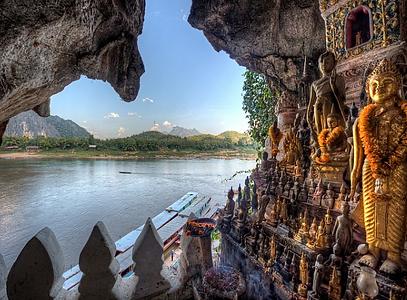 grottes de pak ou luang prabang - thailande vacance