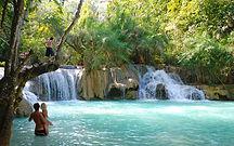 kuang si falls - thailande actualite