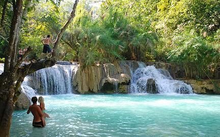cascades de kuang si falls luang prabang - thailande vacance