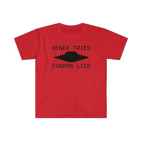 Hynek Tried Condon Lied Men's Fitted Short Sleeve Tee