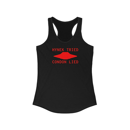 Hynek Tried Condon Lied Women's Ideal Racerback Tank