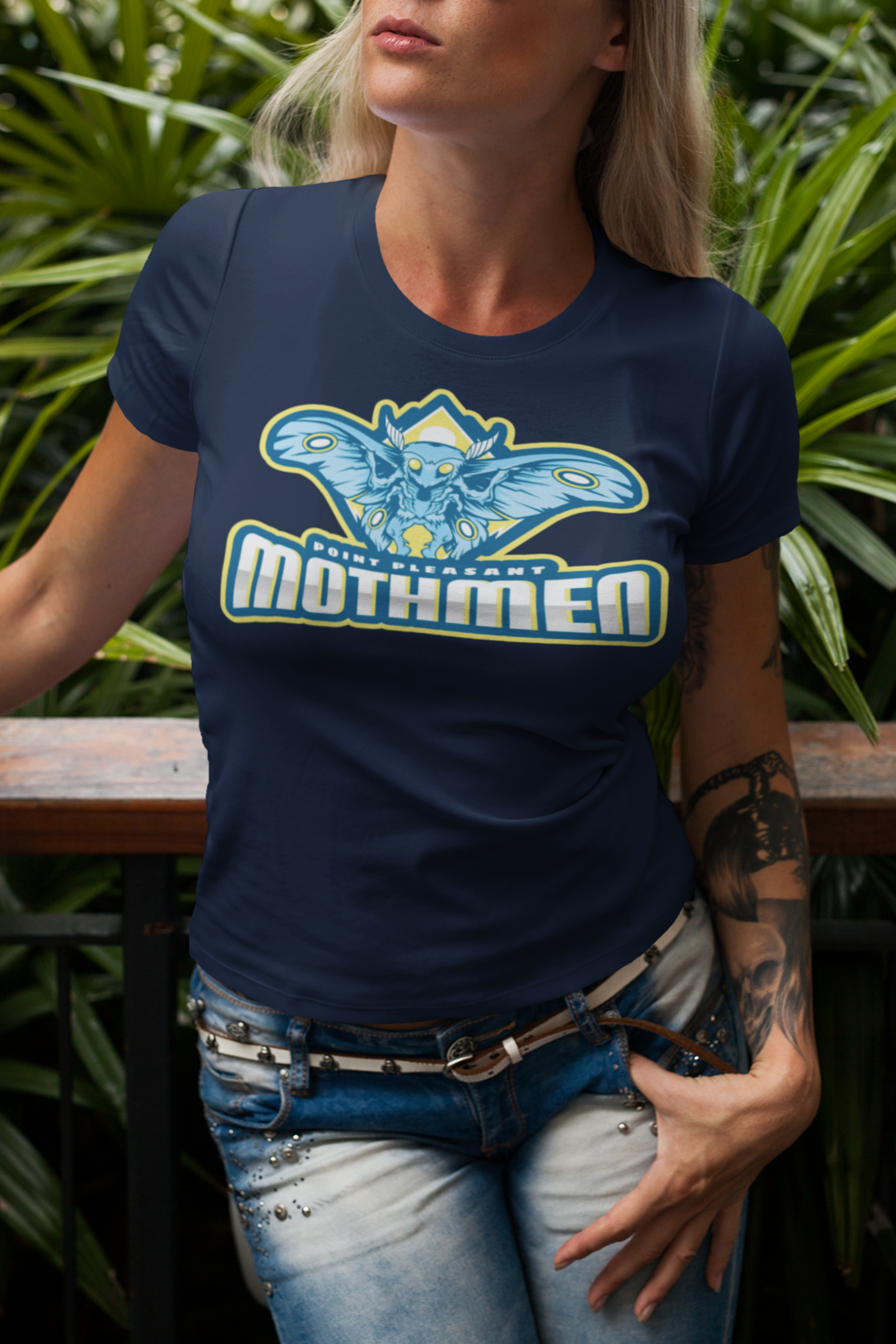 Point Pleasant Mothmen Women's navy