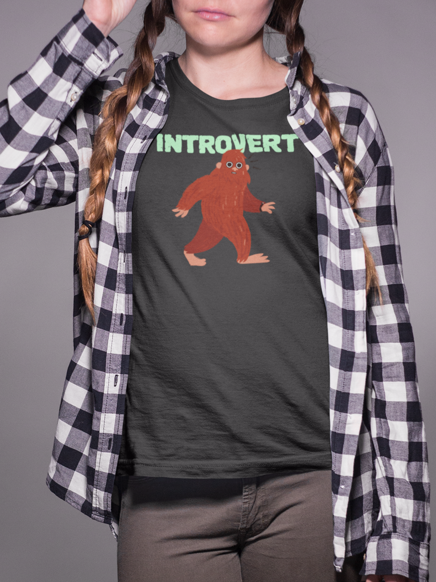 Bigfoot Introvert woman