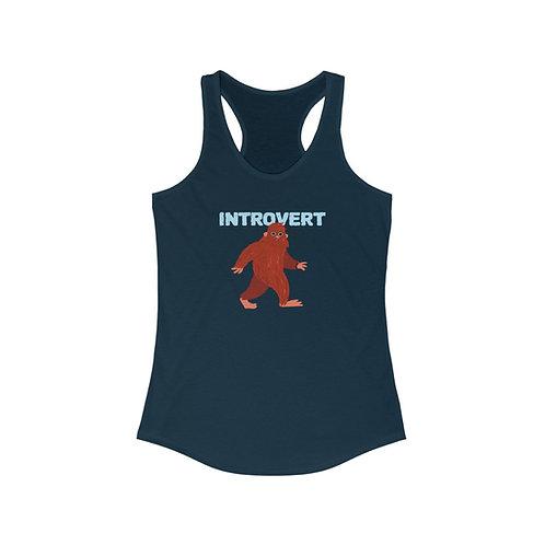 Bigfoot Introvert Women's Ideal Racerback Tank