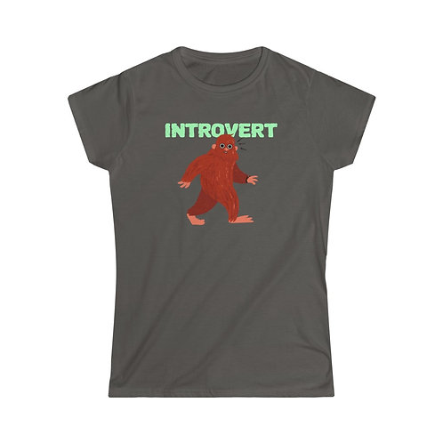 Bigfoot Introvert Women's Softstyle Tee