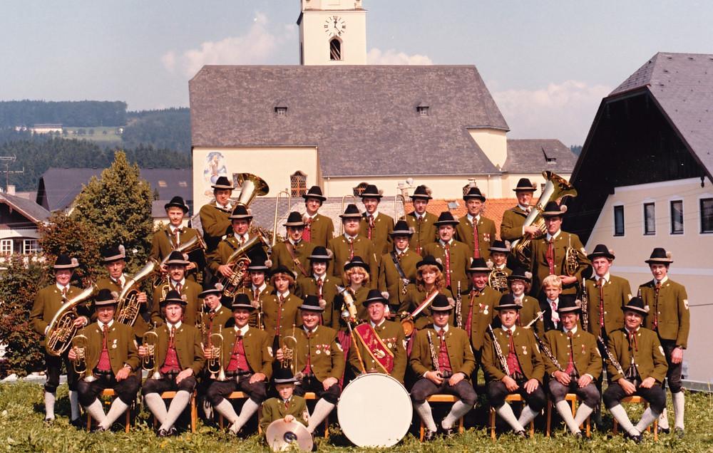 Die Musikkapelle im Jahr 1983
