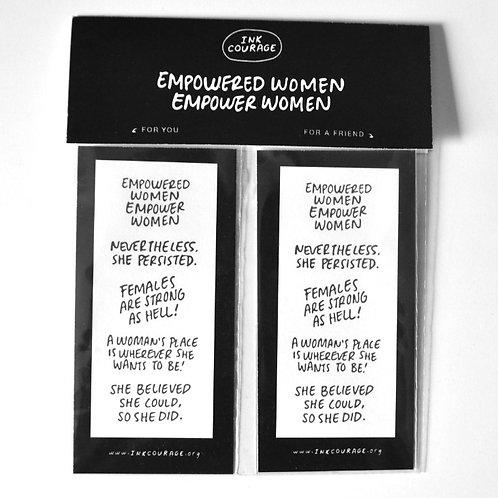 EMPOWERED WOMEN TATTOO 10 PACK