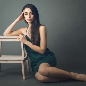 Studio photoshoot with Linett