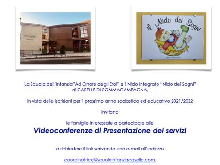 Pubblichiamo la locandina di invito alle giornate di presentazione della scuola e del Nido!