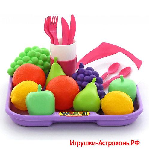 Полесье. Набор продуктов с посудкой и подносом