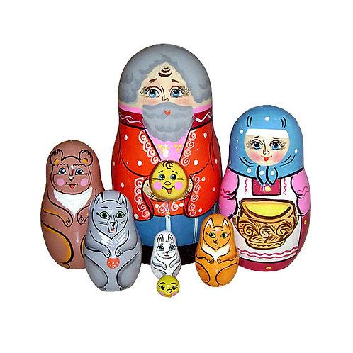 Матрёшка Колобок 7 персонажей