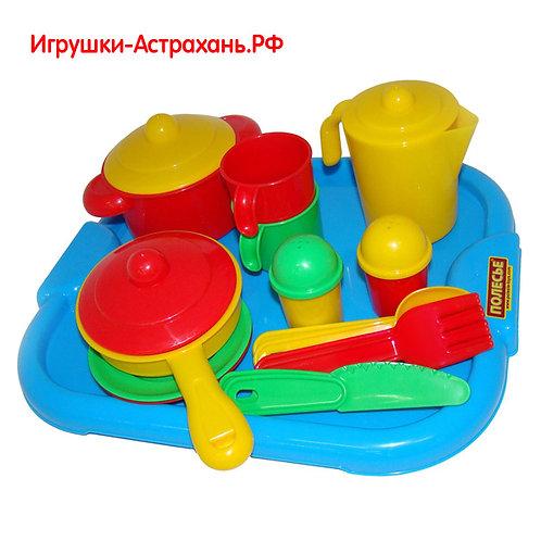 Полесье. Игровой набор детской посуды Настенька с подносом