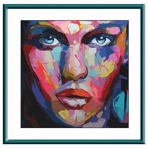 Color Kit. Картина по номерам Абстрактный портрет женский 30 х 30 см