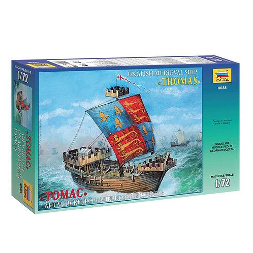 """Звезда 9038. Английский средневековый корабль """"Томас"""""""