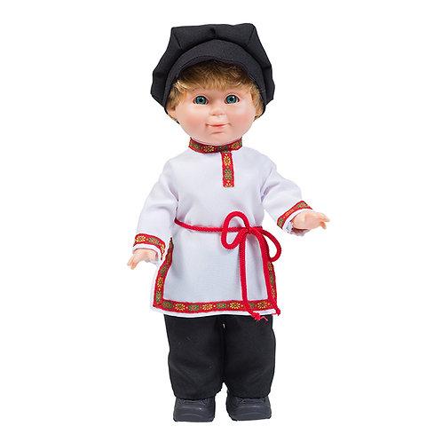 Кукла Весна. Митя в русском костюме со звуковым устройством