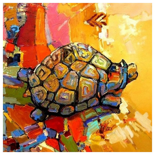 Color Kit. Картина по номерам Черепаха удачи 30 х 30 см