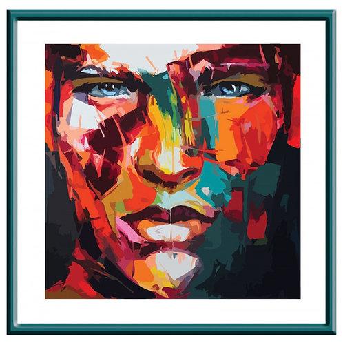 Color Kit. Картина по номерам Абстрактный портрет мужской 30 х 30 см
