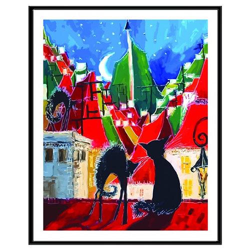 Color Kit. Картина по номерам Ночные прогулки 30 х 40 см