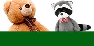 Купить мягкую игрушку в Астрахани - медведи, енот, ёжики