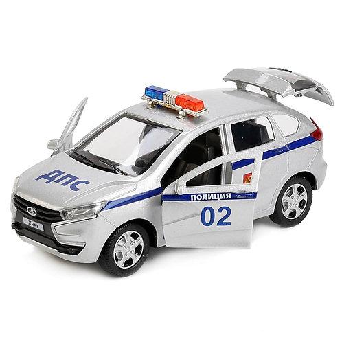 Технопарк Коллекционная модель полицейского автомобиля LADA XRAY