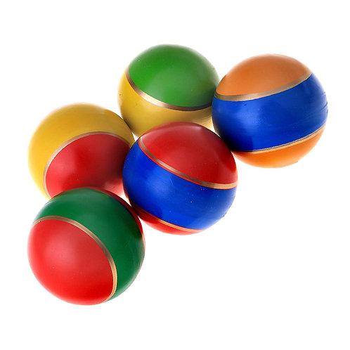 Мяч резиновый 75 мм 19 ЛП в полоску