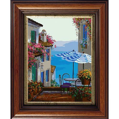 Color Kit. Картина по номерам Средиземноморское кафе 30 х 40 см