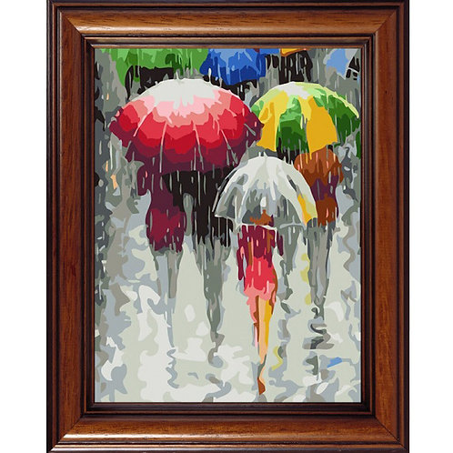 Color Kit. Картина по номерам Зонтики 30 х 40 см