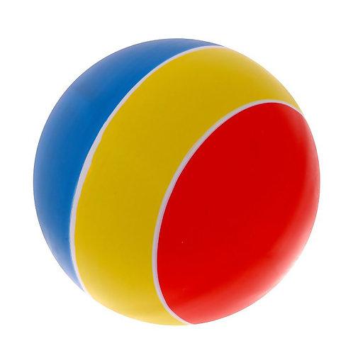 Мяч лакированный в полоску 150 мм