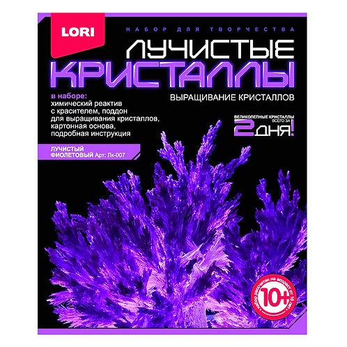 LORI. Выращивание кристаллов. Лучистый фиолетовый