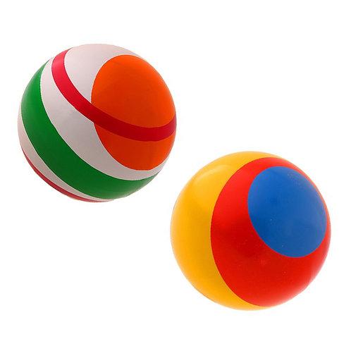 Мяч резиновый лакированный в полоску 200 мм
