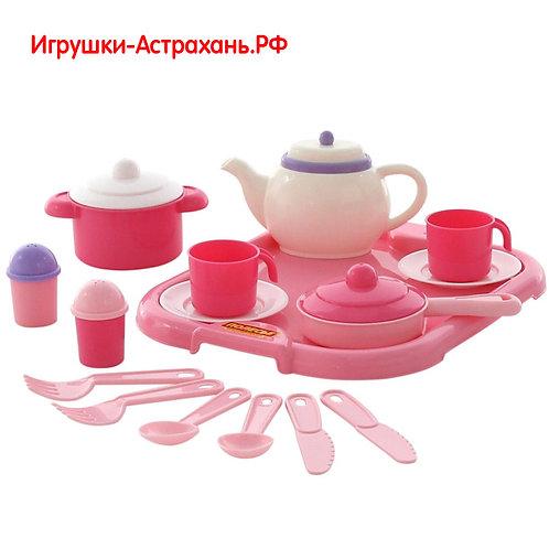 Полесье. Игровой набор детской посуды Настенька 19 элементов