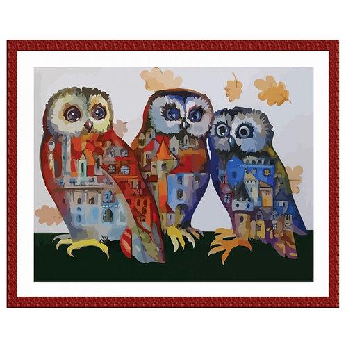 Color Kit. Картина по номерам Городские сны 30 х 40 см