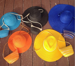 straw hat bag set