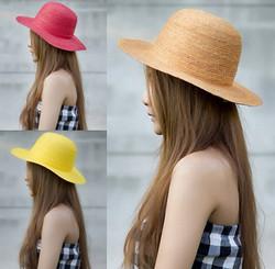 cute bowler straw hat1