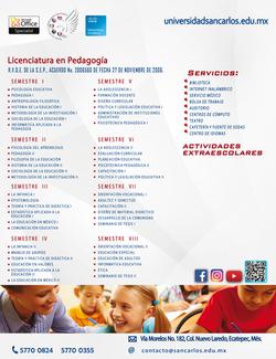 Pedagogía plan de estudios.