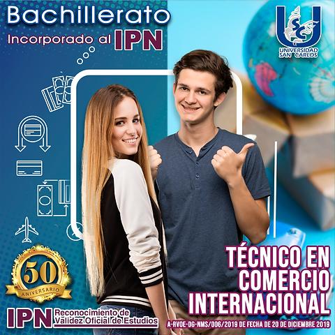 Jovenes estudiantes de bachillerato preparatoria en comercio internacional