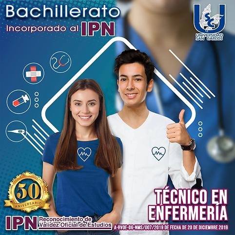 Jovenes estudiantes de bachillerato preparatoria en enfermería.