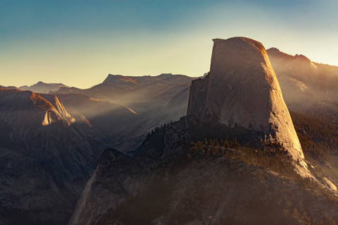 First Light at Half Dome  //  Yosemite National Park, CA